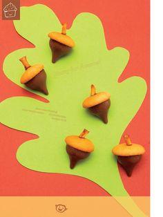 hershey's kiss, vanilla wafer, pretzel stick. easy and cute fall treat!