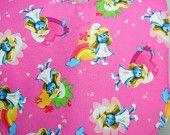 Bib for Baby or Toddler Smurfette Handmade