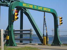 Bridge to Cape Breton Island from Canso Causeway in Nova Scotia, Canada