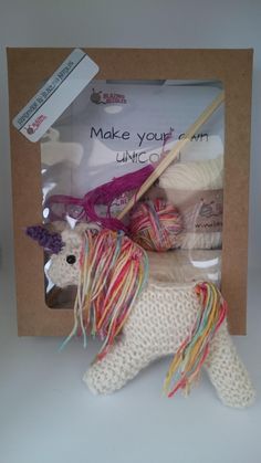 <p>This knit your own Unicorn knitting kit is a fun and unique kit, aimed at the intermediate skilled knitter. What makes this kit so unique, are the materials. I have a huge passion for working with natural materials so I have developed this kit so you can share my love of wool.</p><p>The kit includes 100% British wool,hand dyed and packaged by me.</p><p>The stuffing is carded lambswool. Lambswool is wonderful to work with, just you wait and see!</p><p>The kit also includes a pair of bamboo…