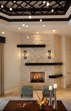 Image result for corner fireplace