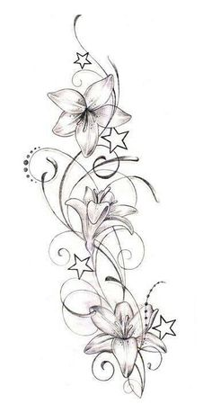 On cold winter days, often only helps a hot soup. Here's the ultimate Tattoo – flower tattoos designs On cold winter days, often only a hot soup helps. Here is the ultimate tattoo Star Tattoos, Leg Tattoos, Body Art Tattoos, Sleeve Tattoos, Cool Tattoos, Tatoos, Geometric Tatto, Flower Tattoo Designs, Lily Flower Tattoos