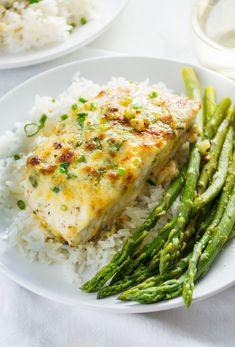 Garlic Parmesan Halibut.  Honestly, I'm game for just about anything to jazz up a white fish.