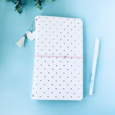 Excited to share the latest addition to my #etsy shop: Midori travellers notebook cover - mtn - midori cover - traveller's notebook - taveller's midori - fauxleather cover - midori - A5 midori https://etsy.me/2jv6M0L #journal #white #pink #midori #travel