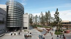 Fresno State's (California State University: Frenso) Madden Library on the heart of campus