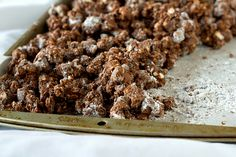 gluten free-- puppy chow made with Popcorn!!