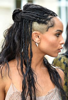 19 times Zoe Kravitz looked like the coolest woman on the planet Shaved Side Hairstyles, Braided Hairstyles, Hair Inspo, Hair Inspiration, Zoe Kravitz Braids, Zoe Isabella Kravitz, Braids With Shaved Sides, Curly Hair Styles, Natural Hair Styles