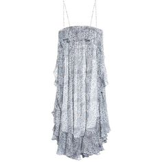 Zimmermann Empire Mist Print Silk Chiffon Dress ($625) ❤ liked on Polyvore featuring dresses, zimmermann dress, pattern dress, mixed print dress, zimmermann and silk chiffon dress