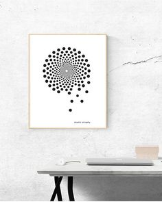 Abstract Art Black and white Digital Download Science