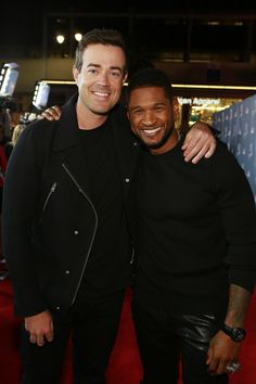 Carson Daly and Usher #VoicePremiere
