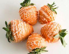 Orange chocolate covered strawberries