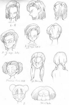 cabellera de android 18, marron y otras by rasec-dragon-91.deviantart.com on @DeviantArt