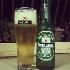 Heineken Beer and Heineken Beer Glass