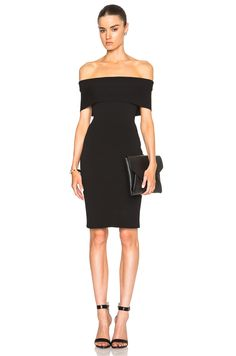 Image 1 of Rosetta Getty Banded Viscose Dress in Black