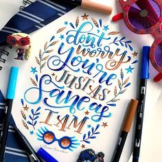 No photo description available. Luna Lovegood, Ravenclaw, Lettering Styles, Lettering Ideas, Tombow Markers, Bullet Journal Writing, Calligraphy Quotes, Marker Art, Brush Pen