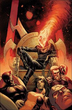 Avengers - Ghost Rider by Stefano Caselli * Marvel Comics Art, Marvel Comic Universe, Marvel Heroes, Ms Marvel, Captain Marvel, New Ghost Rider, Ghost Rider Marvel, Ghost Rider Drawing, Comic Books Art