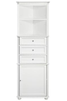 Hampton Bay Corner Linen Cabinet I - Linen Cabinets - Bathroom Cabinets - Bath | HomeDecorators.com: