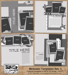 Mintastic Templates Set.3 from peppermintcreative.com