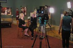 Nancy Zieman at The Paine Art Center's exhibit, Dressing Downton