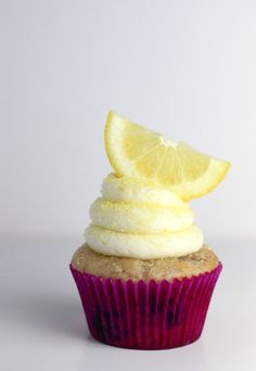 Blueberry Lemon Cupcakes - I am making these for Isaac's birthday. They won't look like this though..