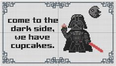 Wagapapa Creations: Come to the dark side, we have cupcakes PATTERN