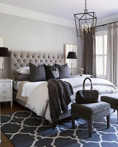 Stunning 37 Grey White Navy Modern Bedroom Color Scheme https://cooarchitecture.com/2017/06/13/37-grey-white-navy-modern-bedroom-color-scheme/