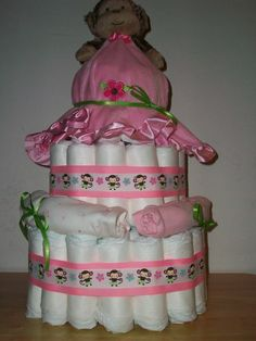 Diaper Cake by ChrisAnnsCreations on Etsy, $55.00