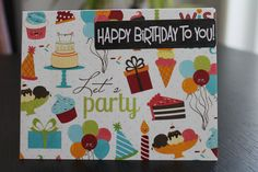 Birthday Card by AllOnAHeartstring on Etsy