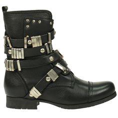 SACHA // Zwarte biker boots  €109,95 - Black Biker Boots