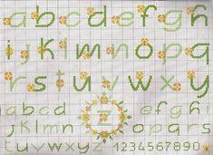 flores amarelas alfabeto
