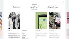 Studio Playground likes this website: Lotta Nieminen (she's a great desginer too). http://www.lottanieminen.com
