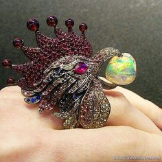 And here's the cocka doodle doooo ring by @lydiacourteille again!  repost from @katerina_perez