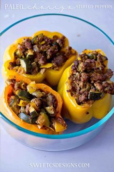 Awesome make-ahead paleo lunch- Chorizo Stuffed Peppers! make ahead paleo lunch Paleo Recipes, Cooking Recipes, Paleo Meals, Paleo Food, Sausage Recipes, Healthy Meals, Delicious Recipes, Crockpot Recipes, Make Ahead Lunches
