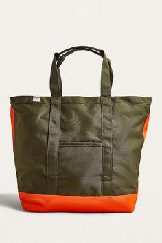 Dark Green Herschel Supply Co. Bamfield Forest and Orange Tote Bag