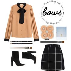 Bows by briesepb on Polyvore featuring Michael Kors, Gianvito Rossi, MAC Cosmetics and Polaroid