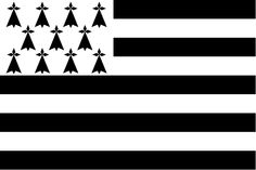 Flag of Brittany also known as Gwenn-ha-du. Breizh Ma Bro, Brittany France, Scrap, Flag, Tattoos, Illustration, Symbols, Icons, Silhouette