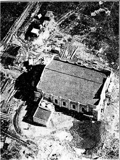 Aerial view of the new radio transmitting station from the top of the 508ft mast for station 1YA at Henderson. Nov 1934.