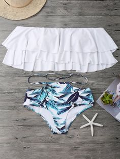 SHARE & Get it FREE | Flounce Layers Off The Shoulder Bikini Set - White SFor Fashion Lovers only:80,000+ Items • New Arrivals Daily Join Zaful: Get YOUR $50 NOW!
