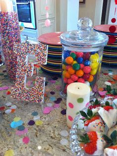 Such a cute idea for Riley 2nd birthday she loves sprinkles