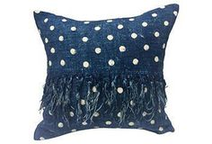Love a vintage polka dot dyed pillow!