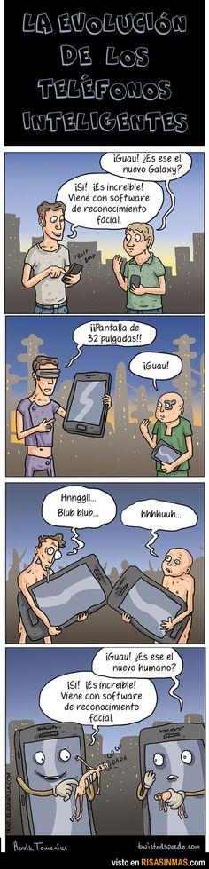 Evolución de los teléfonos inteligentes.