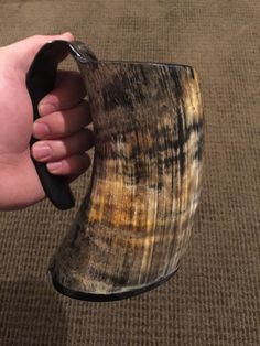I KINDA REALLY NEED THIS!!! Drinking Horn Thick and Chucky Tankard with Coated Lacquer on Inside - Viking Merch  - 1