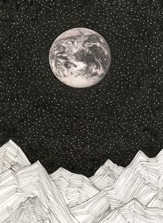 moon~stars~mountains art