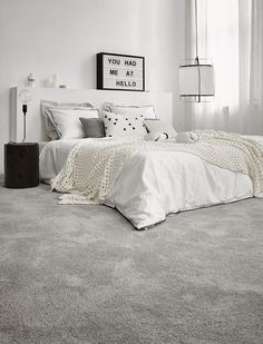 carpet flooring 9 Sparkling ideas: How To Have A Minimalist Home Interior Design minimalist kitchen backsplash open shelving.How To Have A Minimalist Home Interior Design. Home Decor Bedroom, Grey Carpet Bedroom, Living Room Decor, Minimalist Living Room, Living Room Carpet, Minimalist Bedroom, Bedroom Carpet, Minimalist Home Interior, Minimalist Home