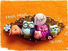 Owls Pendant by Fimo creazioni. Handmade polymer clay.
