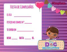 Hermosas Invitaciones de Cumpleaños de Doctora Juguetes para descargar gratuitamente, editar en la pc, o bien imprimir y completar manualmente con los datos de la fiesta. Como siempre lo hacemos, r…