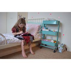 Ikea kitchen trolley ikea bed Polka dot wall Hensvik wardrobe  Kids room Childsroom