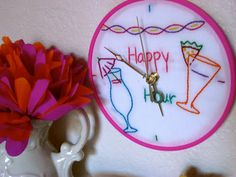 feeling stitchy: Tutorial Tuesday - embroidered clock!