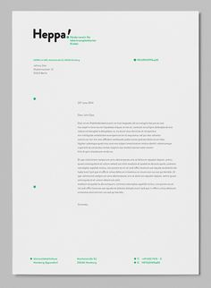 Nice letter layout for Heppa! Paper Design, Layout Design, Print Design, Logo Design, Menu Design, Invoice Design, Stationary Design, Graphic Design Branding, Visual Identity