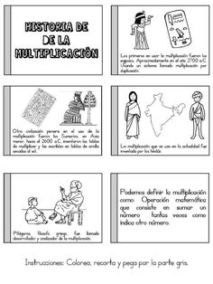 Cuaderno interactivo multiplicación - Imagenes Educativas Esl Resources, France, Fun Math, Teaching Math, Little Boys, Homeschool, Journal, Activities, Education